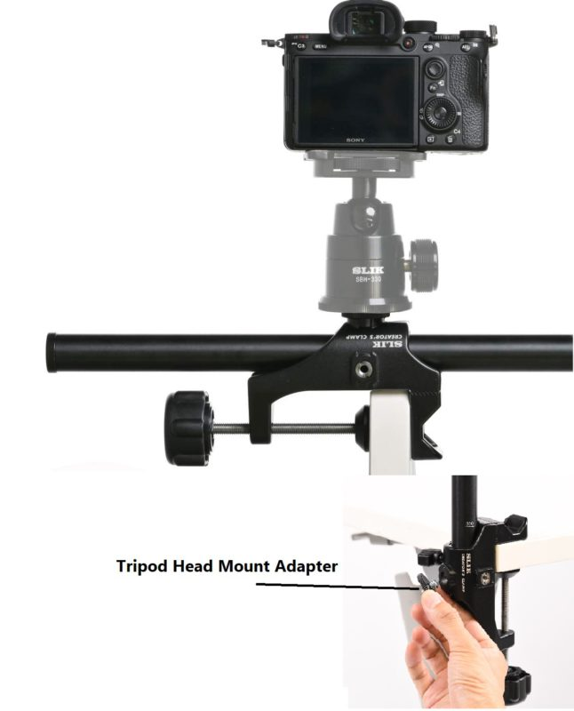 Accessory Holes & Tripod Head Mount Adapter