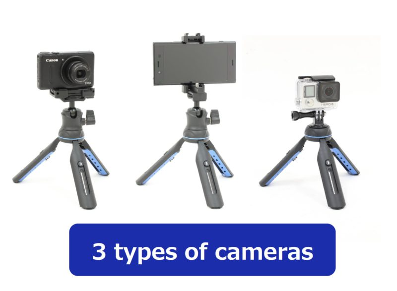 3 types of cameras