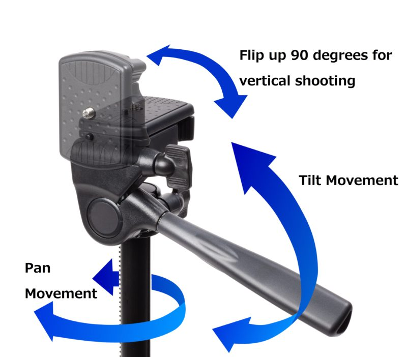 3-Way Pan & Tilt Head