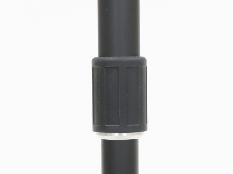 Easy-to-grip, large integral rubber molded leg lock nut